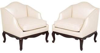 Lewis Mittman Pair of Leather Lounge Chairs