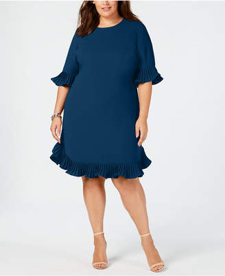 Alfani Plus Size Ruffle-Trim Dress