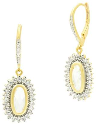 Freida Rothman Fleur Bloom Pavé Starburst Drop Earrings