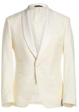 Saks Fifth Avenue COLLECTION BY SAMUELSOHN Classic-Fit Shawl-Collar Wool Dinner Jacket