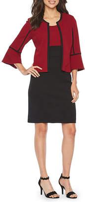 Studio 1 3/4 Bell Sleeve Jacket Dress