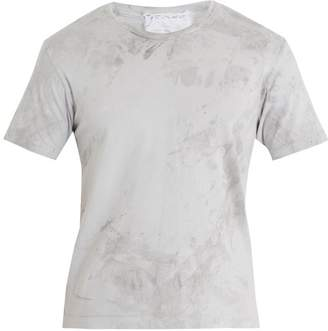 Audrey Louise Reynolds - Hand Dyed Cotton Jersey T Shirt - Mens - Dark Grey