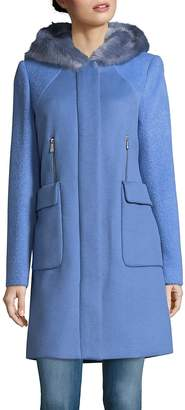 Dawn Levy Women's Lara Faux Fur-Trimmed Coat