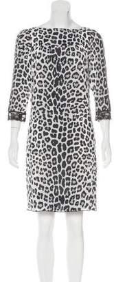 Marc Jacobs Silk Leopard Print Dress