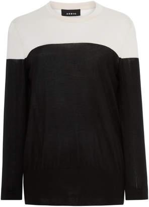 Akris Cashmere Silk Bi-Color Pullover