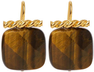 Catherine Canino Tiger's Eye Twisted Drop Earrings