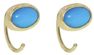 Melissa Joy Manning Turquoise Hug Hoop Earrings