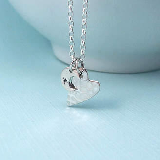 Wished For Love You To The Moon And Back Silver Necklace