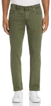 AG Jeans Graduate Slim Straight Fit Twill Pants in Sulfur Climbing Ivy