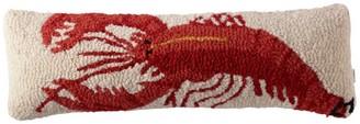 L.L. Bean L.L.Bean Wool Hooked Throw Pillow, Lobster