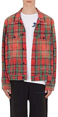 Off-White Men's Checked Cotton-Blend Shirt Jacket