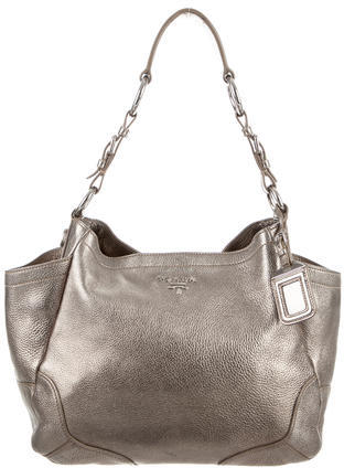 prada Prada Vitello Daino Side Pocket Hobo