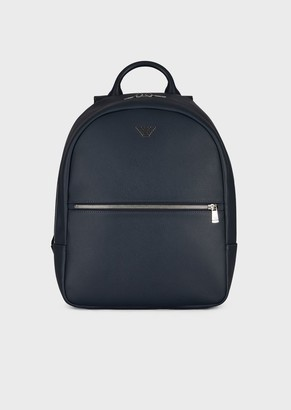 Emporio Armani Backpack In Faux Leather With Front Pocket And Logo d7b38b217d814
