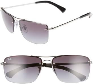 Ray-Ban 61mm Gradient Semi Rimless Navigator Sunglasses