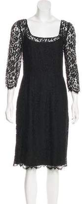 Dolce & Gabbana Guipure Lace Long Sleeve Dress