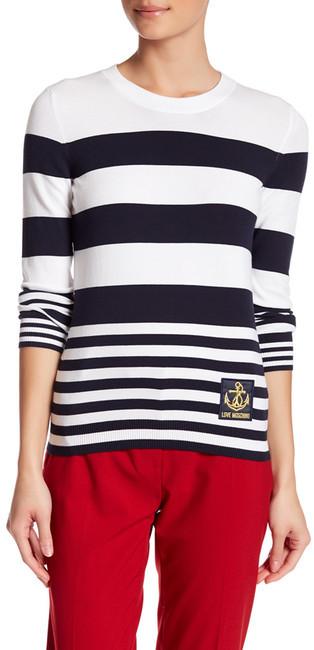 Love MoschinoLOVE Moschino Stripe Sweater