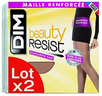 Dim Women's Beauty Resist Tights, Not Applicable (Pack of two),Black,Manufacturer Size:3