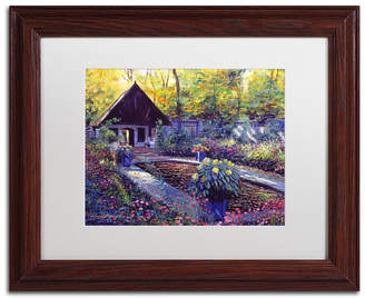 "David Lloyd Glover 'Blue Garden Impression' Matted Framed Art - 11"" x 14"""