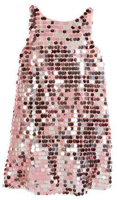 Milly Minis Sequin Angular Shift Dress, Size 4-7