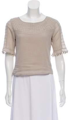 LoveShackFancy Pleated Short Sleeve Top w/ Tags