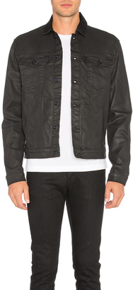 Calvin Klein Denim Coated Jacket $128 thestylecure.com