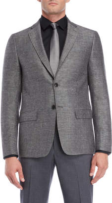 John Varvatos Black & White Neat Wool Blend Suit Jacket