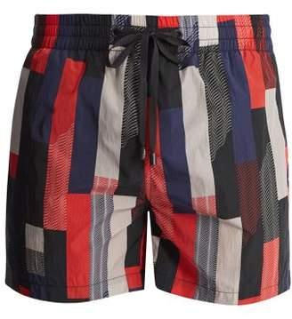Everest Isles - Swimmer Drift Grid 2 Swim Shorts - Mens - Red Multi
