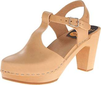 Swedish Hasbeens Women's T-Strap Sky High Heeled Sandal