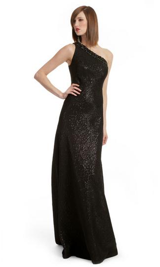 Carmen Marc Valvo Shimmering Mirage Gown