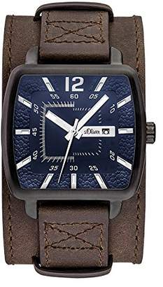 S'Oliver Men's Analogue Quartz Watch with Leather Strap