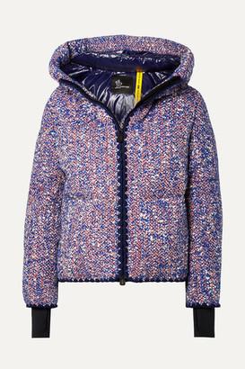 Moncler Genius - + 3 Grenoble Wool-blend Bouclé Down Jacket - Blue
