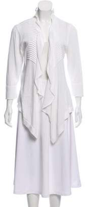 Etcetera by Edmond Chin Ruffled Open Front Cardigan