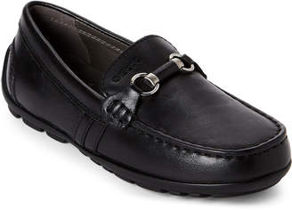 Geox Toddler Boys) Black J Fast Leather Bit Loafers