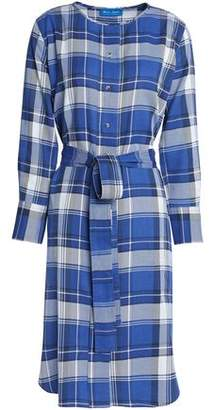 MiH Jeans Edie Checked Flannel Shirt Dress