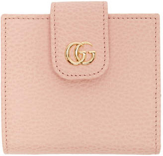Gucci Pink Petite Marmont Snap Card Case