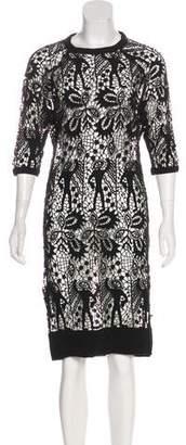 Isabel Marant Guipure Lace Knee-Length Dress