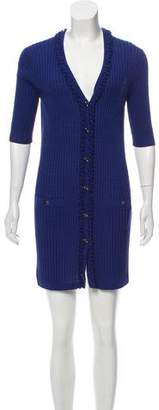 Chanel Knit Button-Up Dress