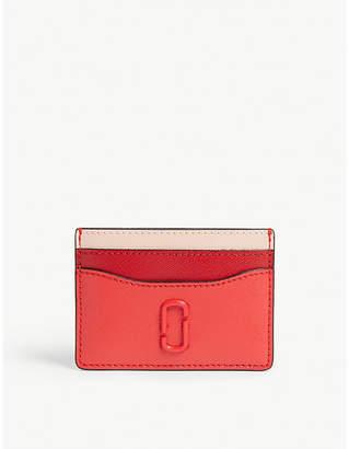 Marc Jacobs Logo leather card holder