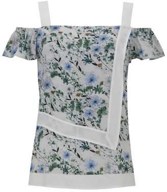Mint Velvet Lucy Print Cold Shoulder Top