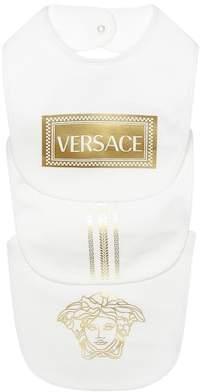 Versace Stretch cotton bibs set