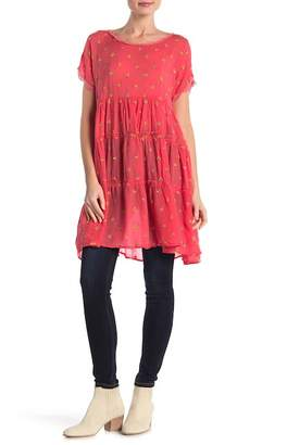 Johnny Was Embroidered Scoop Neck Tunic Dress
