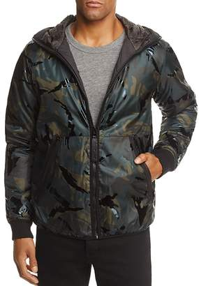 G Star Padded Camouflage Hooded Jacket