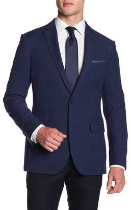 Nordstrom Rack Wool Blue Text Blazer
