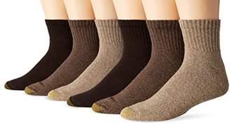 Gold Toe Men's Big and Tall Harrington Quarter Socks (6 Pair Pack)