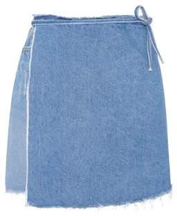 GRLFRND Elle denim wrap skirt