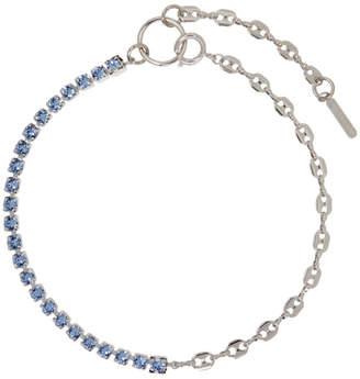 Justine Clenquet SSENSE Exclusive Blue Vic Necklace