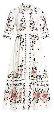 Erdem Women's Kasia Floral Midi Shirtdress