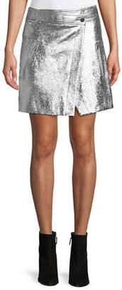 Derek Lam 10 Crosby Patent Leather Wrap Mini Skirt