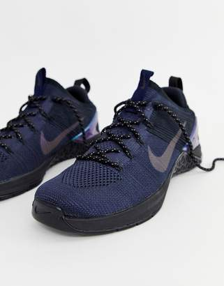 Nike Training Metcon dsx Flyknit sneakers in navy av3839-400