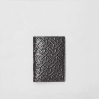 Burberry Monogram Leather Passport Holder